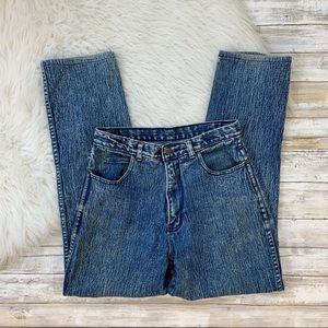 Vintage High Waist Acid Wash Mom Jeans